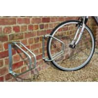 Cycle Racks Adjustable, Wall Mounted Silver 28 x 8 x 33 cm
