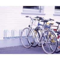 Cycle Racks 4-Bike Capacity Wall and Floor Mounting Silver 27 x 140 x 32 cm