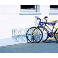 Cycle Racks Wall or Floor 4-Bike Capacity Silver 27 x 140 x 32 cm