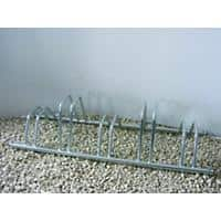 Cycle Racks Staggered Height Zinc 136 x 40 x 30 cm