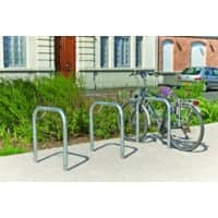 Cycle Stand 2-Bike Capacity Sunken Grey 100 x 75 x 100 cm