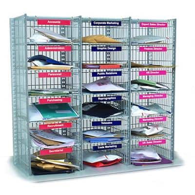 SLINGSBY Mail Sorting Unit with 18 Compartments 3 Columns x 6 Rows 315029 915 mm