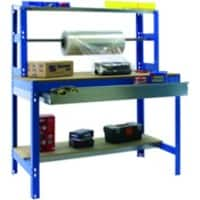 SLINGSBY Packing workbench with roll holder and drawer 1500 mm