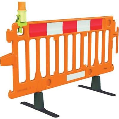 Pedestrian Barrier Floor Standing Red 100 x 200 x 100 cm