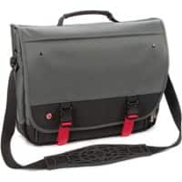 Falcon Laptop Bag is0501 15.6 Inch Polyester Titanium, Black, Red 39 x 10 x 32 cm