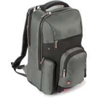 Falcon Laptop Backpack is0503 15.6 Inch Polyester Titanium, Black, Red 32 x 20 x 45 cm
