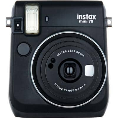 Fujifilm Instant Camera Instax Mini 70 Black 10 Shots