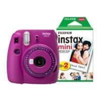 Fujifilm Instant Camera Instax Mini 9 Clear Purple + 1 x 20 shot mini film pack