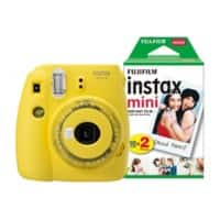 Fujifilm Instant Camera Instax Mini 9 Clear Yellow + 1 x 20 shot mini film pack