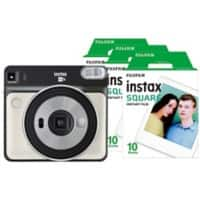 Fujifilm Instant Camera Instax Square SQ6 Pearl White + 1 x 10 Shot Film Pack + 1 x 20 Shot Film Pack