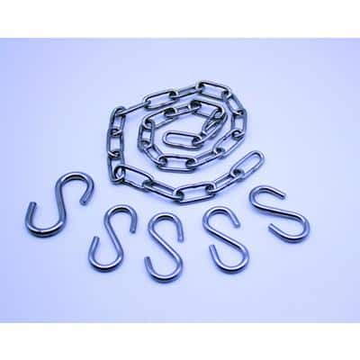 Chain and Hooks Set for Mirrors Silver 10 x 16 x 3.5 cm