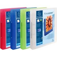 Exacompta Presentation Ring Binder Kreacover Chroma 54869E Polypropylene A4 2 ring 30 mm Assorted Pack of 12