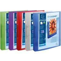 Exacompta Presentation Ring Binder Kreacover Chroma 54769E Polypropylene A4 2 ring 30 mm Assorted Pack of 15