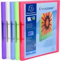 Exacompta Presentation Ring Binder Kreacover 5496E Polypropylene A4 2 ring 15 mm Assorted Pack of 20