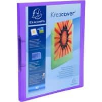Exacompta Presentation Ring Binder Kreacover 54966E Polypropylene A4 2 ring 15 mm Purple Pack of 25