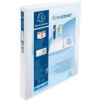 Exacompta Presentation Ring Binder Kreacover Personal 51842E Polypropylene A4 4 ring 30 mm White Pack of 10