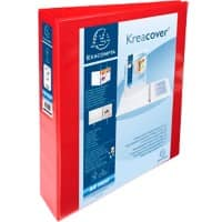 Exacompta Presentation Ring Binder Personal 51943RE Polypropylene A4+ 4 ring 40 mm Red Pack of 10
