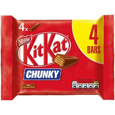 Nestlé Chunky KitKat 4 Pieces of 40 g