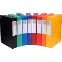 Exacompta Filing Box 19500H A4 50 mm Assorted Glossy Card Pack of 10