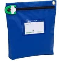 Versapak Secure Cash Bags 267 x 267 x 50mm Zip Blue