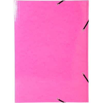 Exacompta 3 Flap Folder 59814E A3 Pink Glossy Card 32 x 44 cm Pack of 5