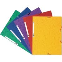 Exacompta 3 Flap Folder 55515E A4 Assorted Glossy Card 24 x 32 cm Pack of 50