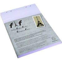 Exacompta Refill Paper 12236E White Squared Perforated 29.7 x 21 cm 5