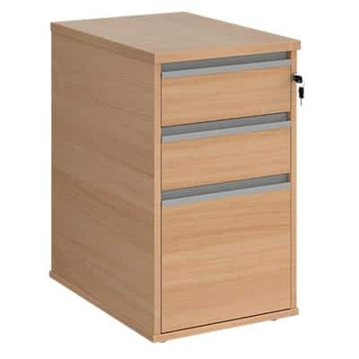 Dams International Desk End Pedestal with 3 Lockable Drawers Wood Contract 25 426 x 600 x 725mm Beech