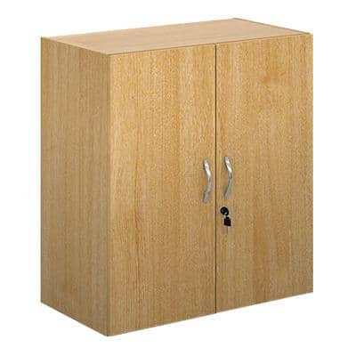 Dams International Cupboard Lockable Melamine Contract 25 756 x 408 x 830mm Oak
