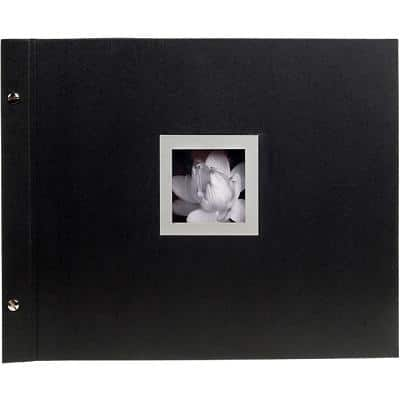 Exacompta Photo Album Screwbound Ceremony 290 x 370 mm Black 40 pages 160 photos