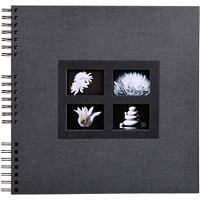 Photo Album Spiral Passion 32x32cm Black 60 pages 358 photos