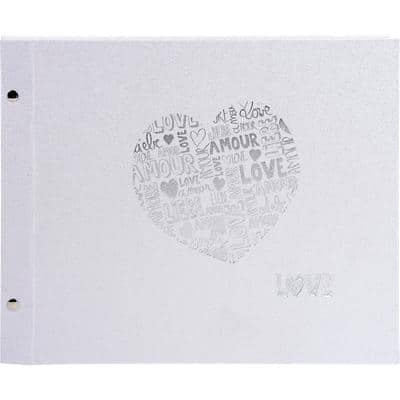 Exacompta Refillable screw photo album Just Married 290 x 370 mm Silver 40 pages 160 photos