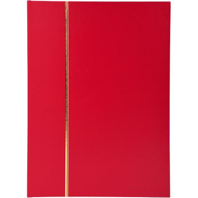 Stamp Album Faux Leather Cover Red 64 pages