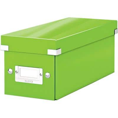 Leitz Click & Store WOW CD Storage Box Laminated Cardboard Green 143 x 352 x 136 mm