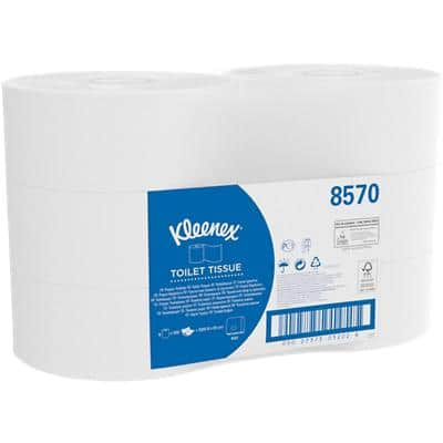 Kleenex Toilet Rolls Jumbo 2 Ply 6 Rolls of 500 Sheets