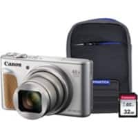 Canon Digital Camera PowerShot SX740 HS 20.3 Megapixel Silver + 1 x 32GB SD Card, 1 x Case