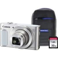 Canon Digital Camera PowerShot SX620 HS 21.1 Megapixel White + 1 x 32GB SD Card, 1 x Case