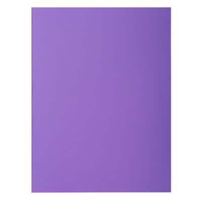 Exacompta Square Cut Folder A4 Purple 80gsm Card Pack of 300