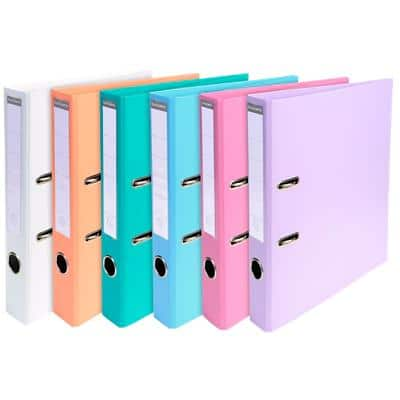 Exacompta Prem Touch Conventional file folder 53044E 55 mm PVC, Cardboard 2 ring A4 Assorted 10 Pieces