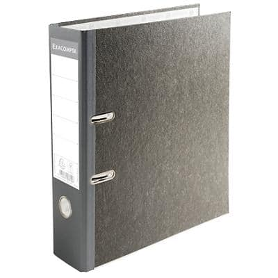 Exacompta Conventional file folder 53710E 70 mm Marbled 2 ring Grey 20 Pieces