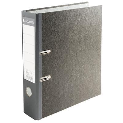 Exacompta Conventional file folder 53709E 80 mm Marbled Paper On Board 2 ring Grey 20 Pieces