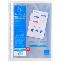 Exacompta Punched Pockets A4 60 Clear Micron Pack of 500