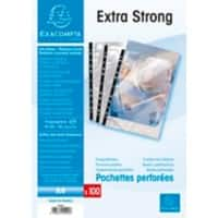 Exacompta Punched Pockets Extra Strong A4 Clear 90 Micron Pack of 100