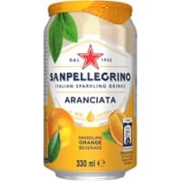 S.Pellegrino Aranciata Orange Sparkling Drink Can 330ml Pack of 24