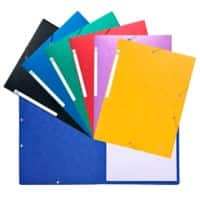 Exacompta Elasticated Folder 5590E Assorted Molted Pressboard 24 x 32 cm Pack of 20