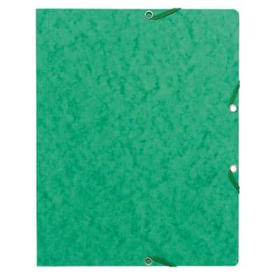 Exacompta Elasticated Folder 55463E Green Card Pack of 50