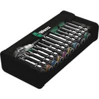 Wera 8100 Sa 6 Zyklop Speed Ratchet Metric Set 1/4in Drive