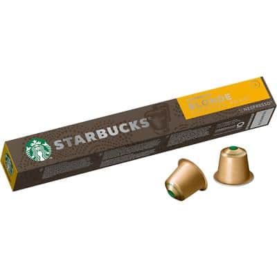 Starbucks Blonde Roast Espresso Coffee Pods Pack of 10 53g