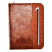 Arpan A4 Conference Portfolio with calculator and notepad Brown