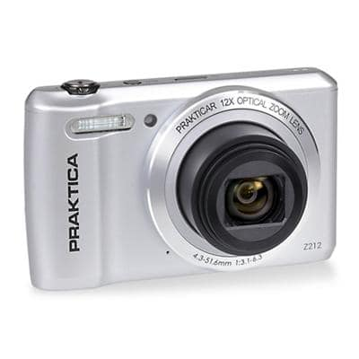 Praktica Digital Camera Z212, 64 GB microSD Card, Adapter, Carrying Case Silver
